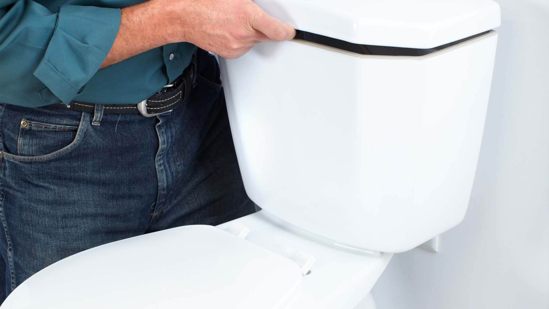 Completing a toilet installation in Winter Haven, FL.