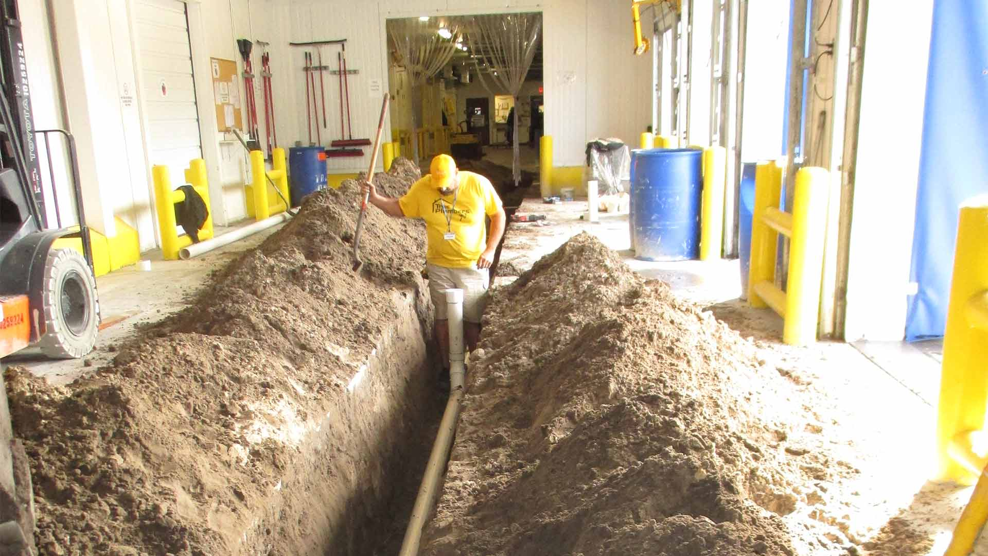 Slab leak repairs performed at a business in Plant City, FL.