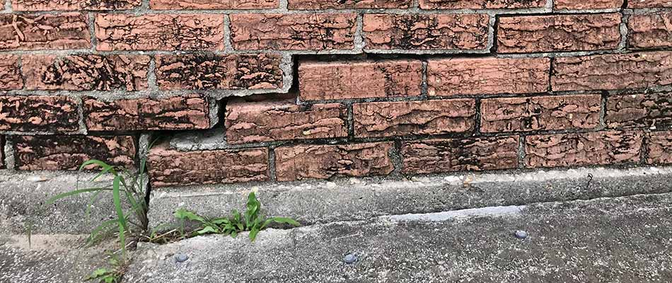 A Plant City, FL building with foundation damage from slab leaks.