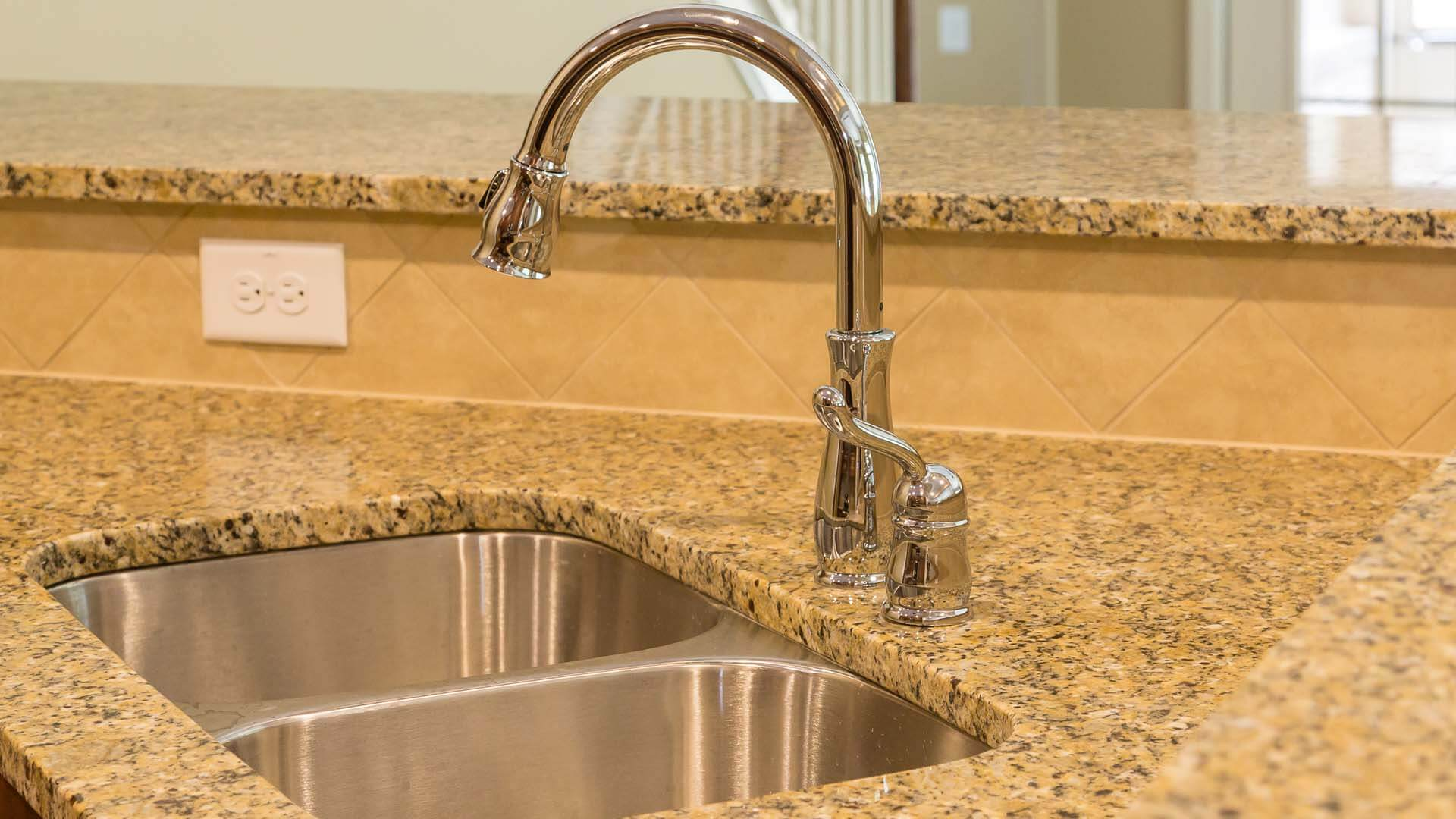 New kitchen faucet installation at home in Winter Haven, FL.
